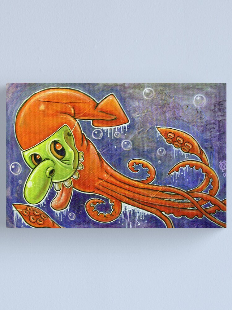 Alternate view of Dynamite Squid Canvas Print