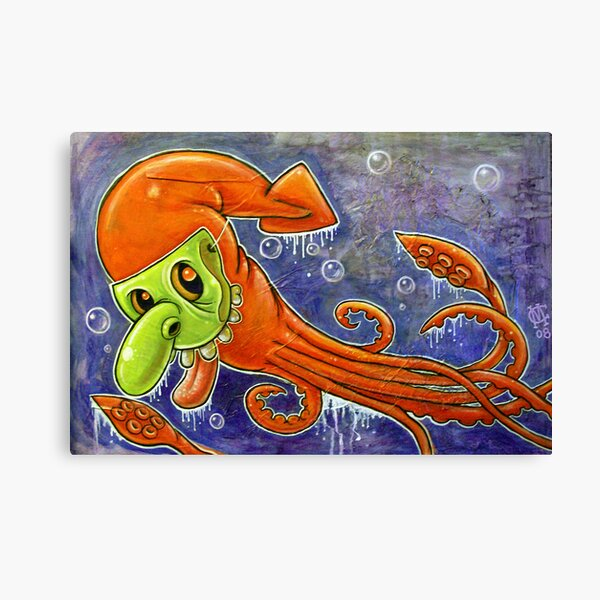 Dynamite Squid Canvas Print