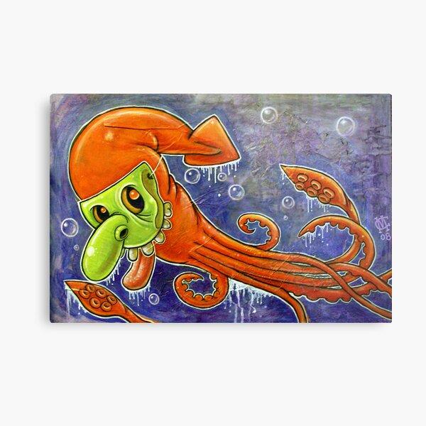 Dynamite Squid Metal Print