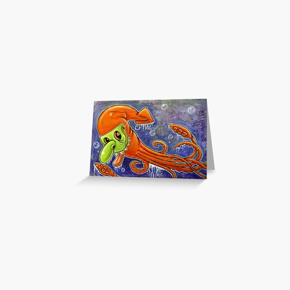 Dynamite Squid Greeting Card