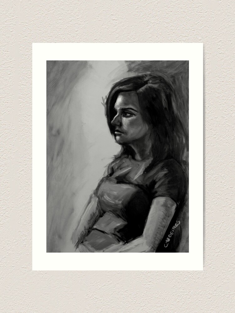 Alternate view of Life painting Art Print