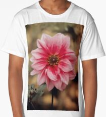 Pink flower Long T-Shirt