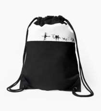 Breath of the wild: Divine beasts loading screen small black Drawstring Bag