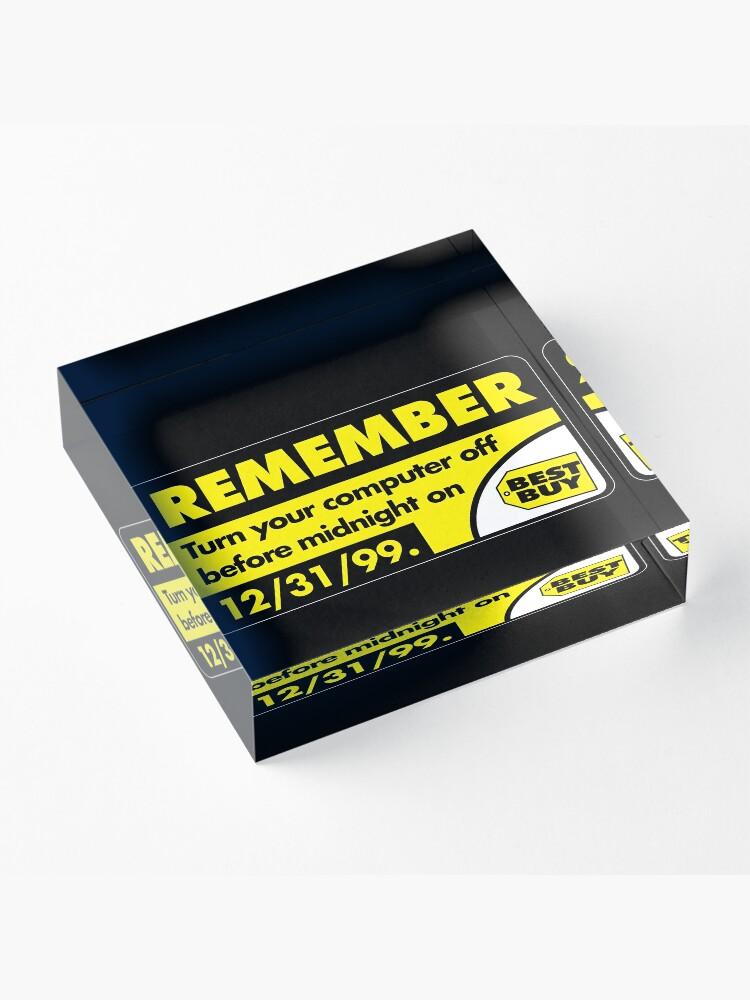 Alternate view of Remember... Acrylic Block