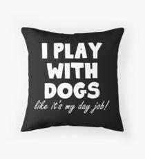 Cojín de suelo Yo juego con perros