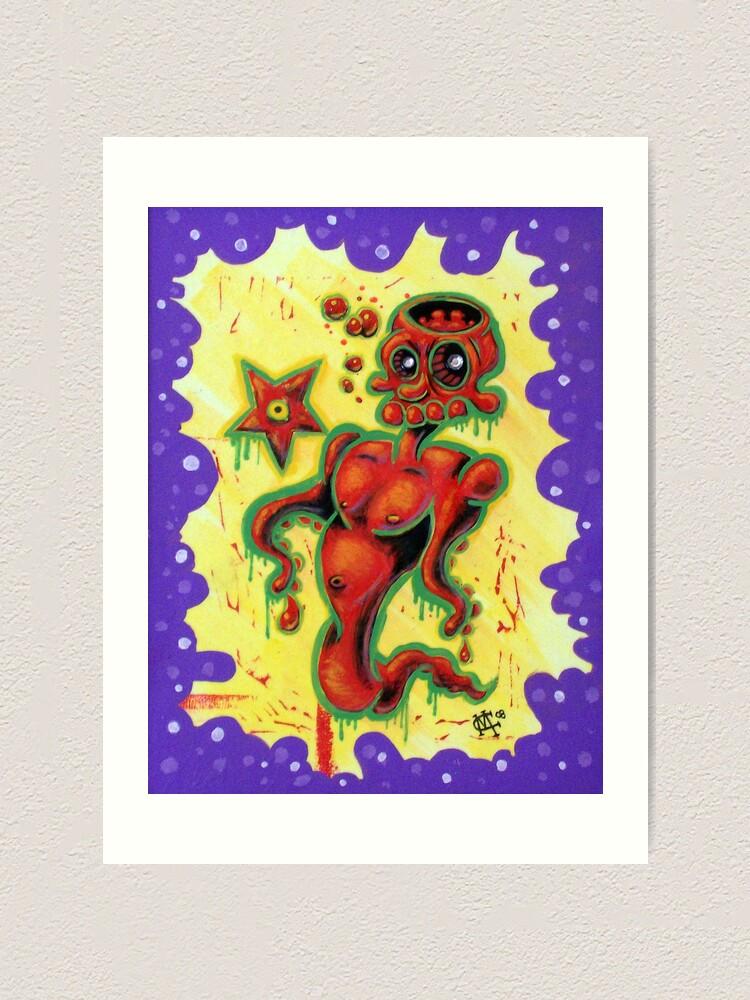 Alternate view of Skullopod Art Print