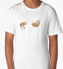 Just Do It Later. Sloths. Long T-Shirt