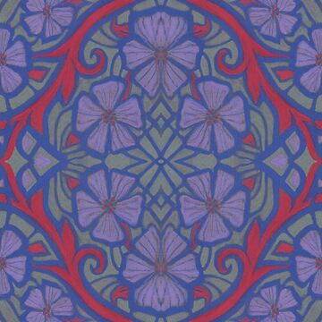 Nocturnal bloom, floral arabesque pattern by clipsocallipso