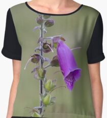 purple summer flower Chiffon Top