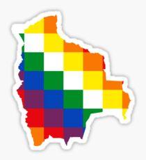 Wiphala of the Qullasuyu Bolivia Map Sticker