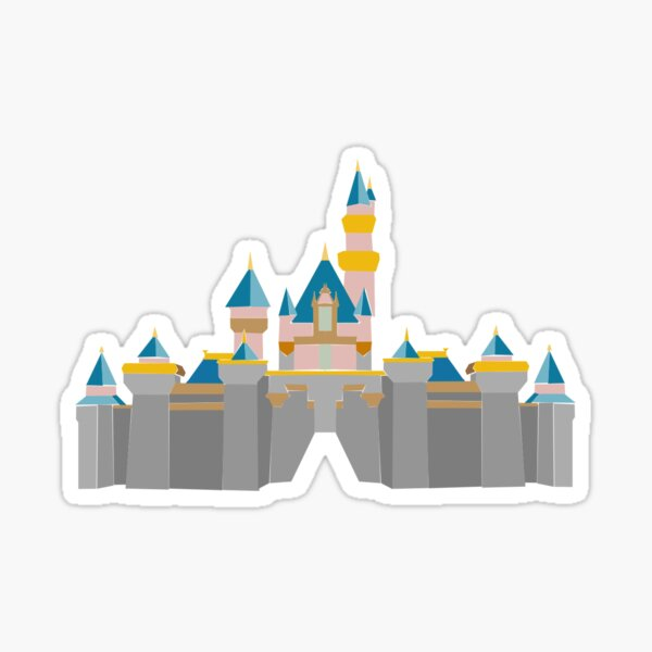 pastel geometric castle Sticker