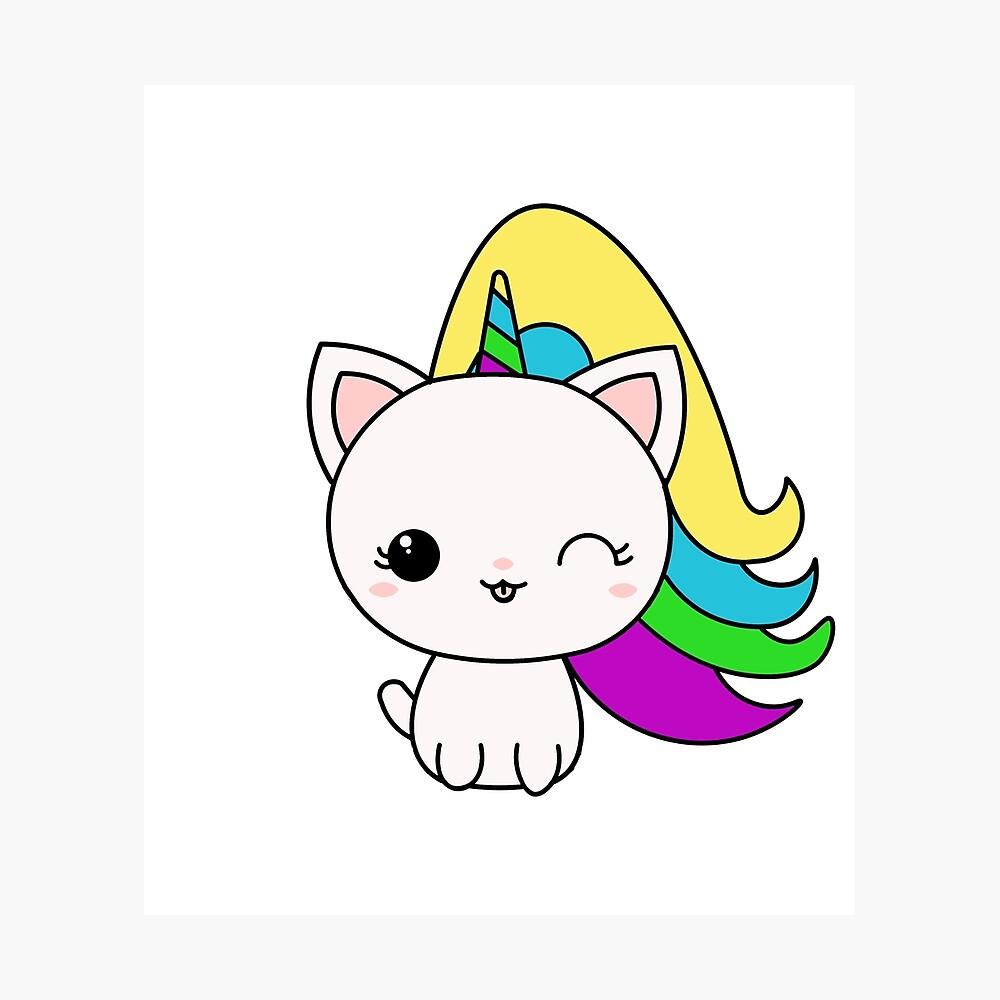 """""""Unicat Unicorn Kawaii Cat"""" Photographic Print by ..."""