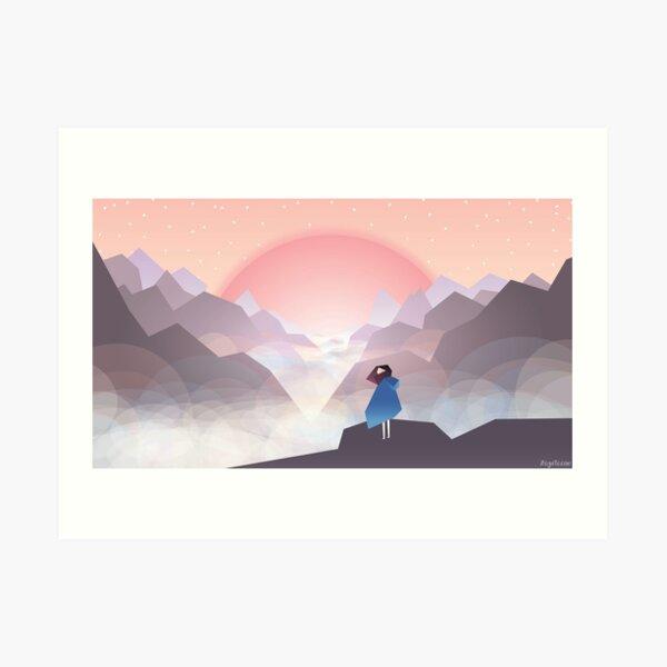 Helvena and the Mist Art Print