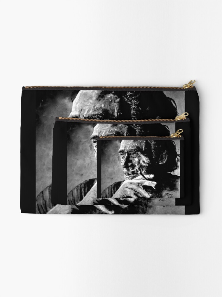 Alternate view of Charles Bukowski Zipper Pouch
