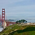 Golden Gate Bridge From The Presidio   by Lynda Anne Williams
