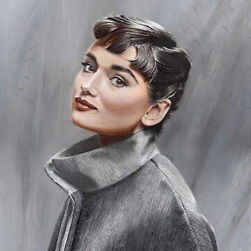 Audrey Hepburn by missmuffin