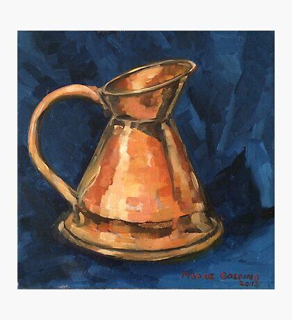 'Copper jug' Oil on canvas  Photographic Print