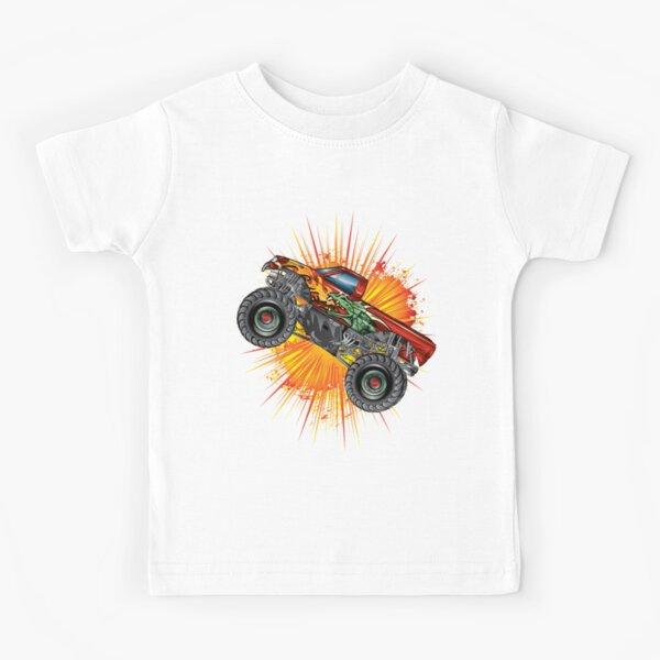 Monster Truck Dragon Explosion Stunt Kids T-Shirt