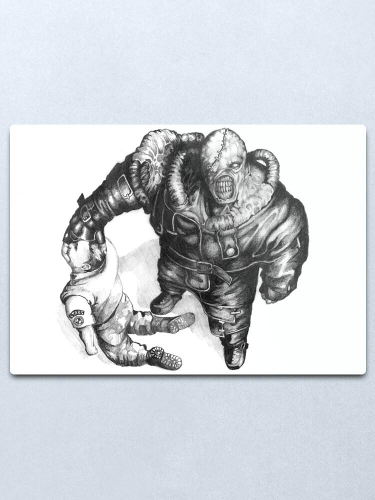 Nemesis Of Resident Evil Metal Print By Orioncastle Redbubble