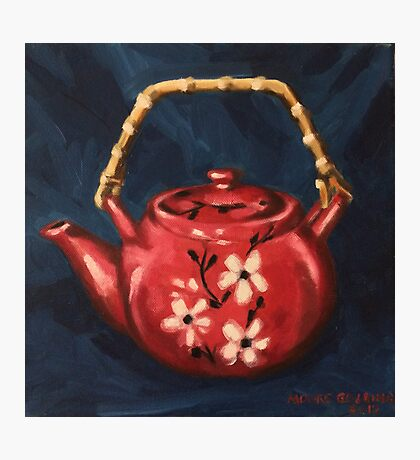 The Red Teapot. Oil on linen. Photographic Print