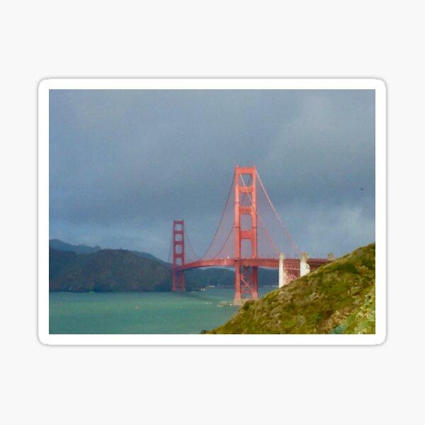 Golden Gate Bridge After The Rain Sticker