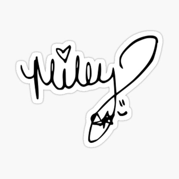 Miley Cyrus autograph Sticker