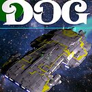 Galaxy Dog, a sci-fi novel cover. by starbright