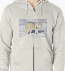 Arctic Wolf Zipped Hoodie