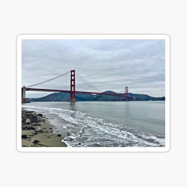 Golden Gate Bridge With Marin Headlands Sticker