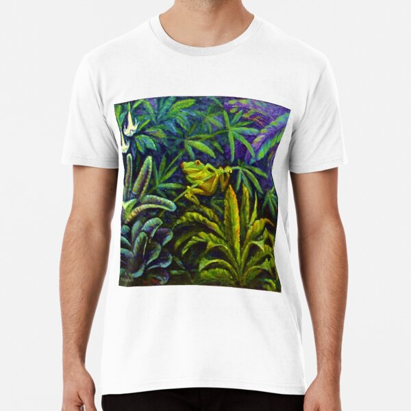 RED EYED GREEN TROPICAL TREE FROG Premium T-Shirt