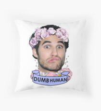 Darren Criss Dumb Human Throw Pillow