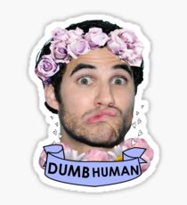 Darren Criss Dumb Human Sticker