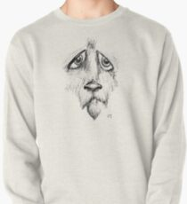 Sad Eyes Puppy Pullover Sweatshirt