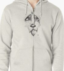 Sad Eyes Puppy Zipped Hoodie