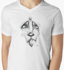 Sad Eyes Puppy V-Neck T-Shirt