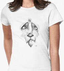 Sad Eyes Puppy Fitted T-Shirt