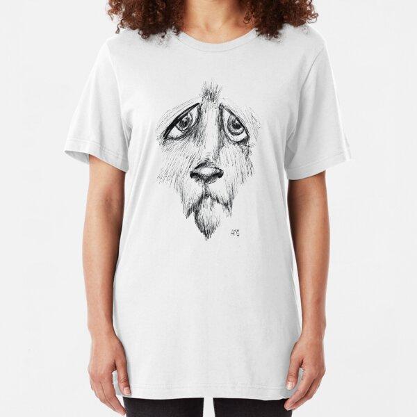 Sad Eyes Puppy Slim Fit T-Shirt