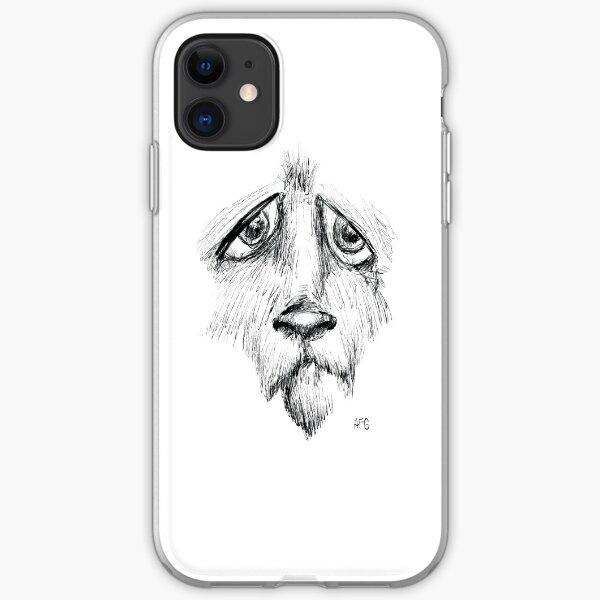 Sad Eyes Puppy iPhone Soft Case