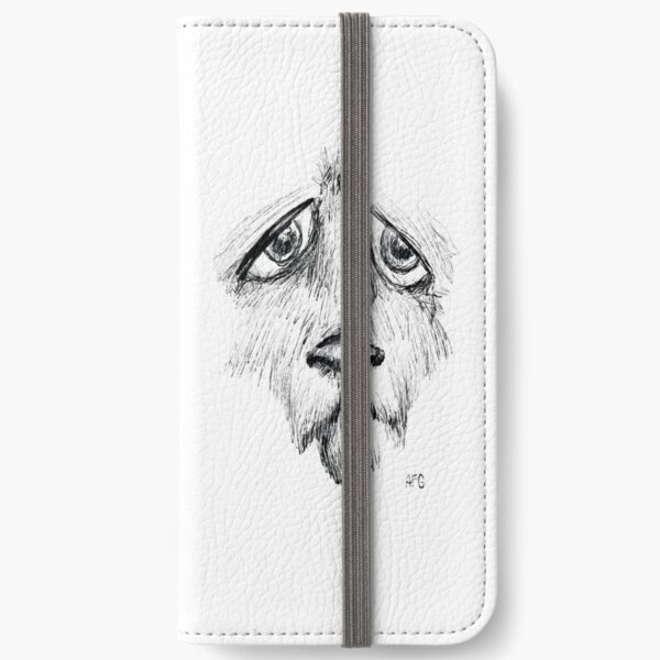 Sad Eyes Puppy iPhone Wallet