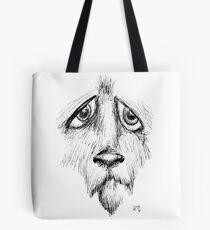 Sad Eyes Puppy Tote Bag