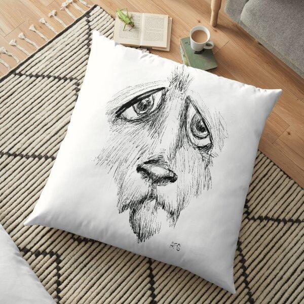 Sad Eyes Puppy Floor Pillow