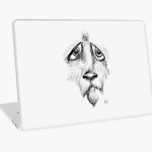 Sad Eyes Puppy Laptop Skin
