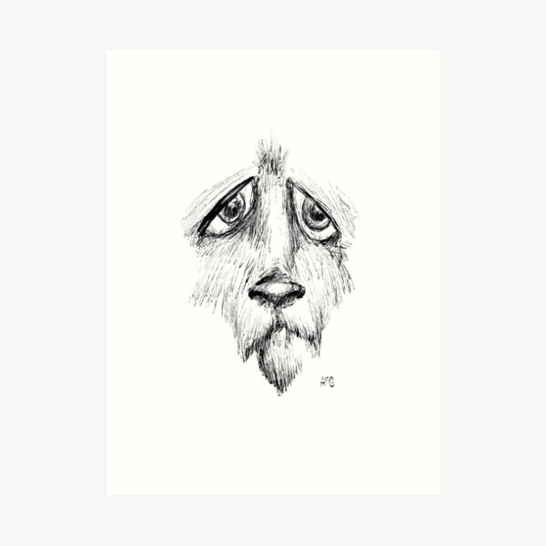 Sad Eyes Puppy Art Print