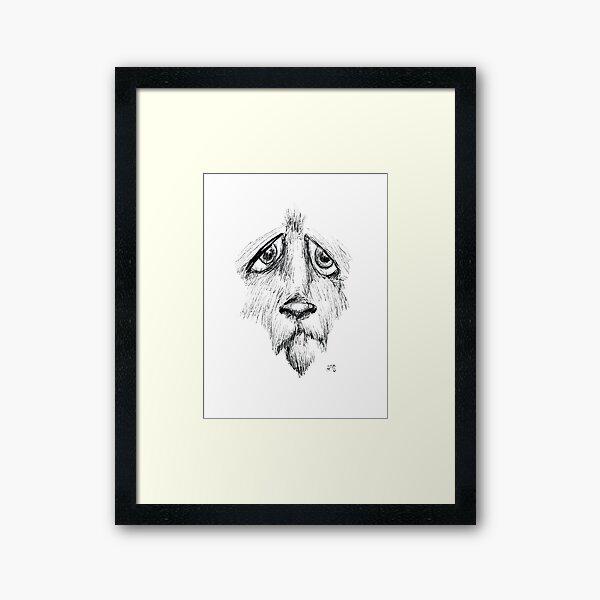 Sad Eyes Puppy Framed Art Print