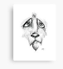 Sad Eyes Puppy Canvas Print
