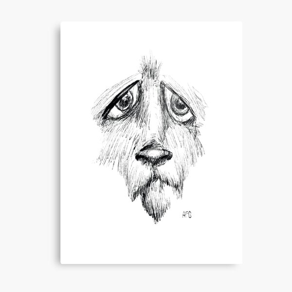 Sad Eyes Puppy Metal Print