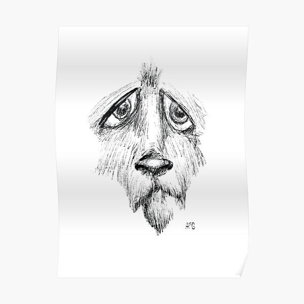 Sad Eyes Puppy Poster