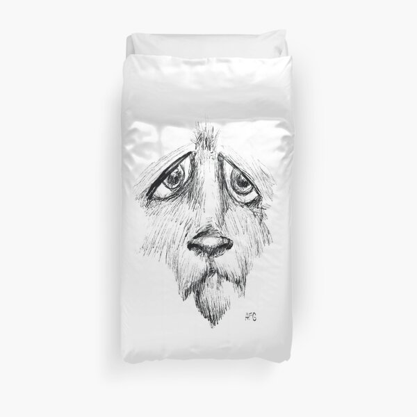 Sad Eyes Puppy Duvet Cover