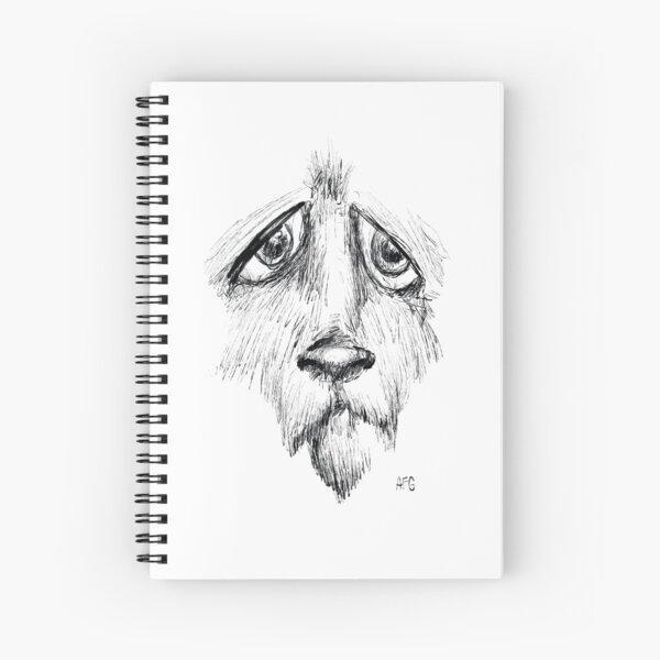 Sad Eyes Puppy Spiral Notebook