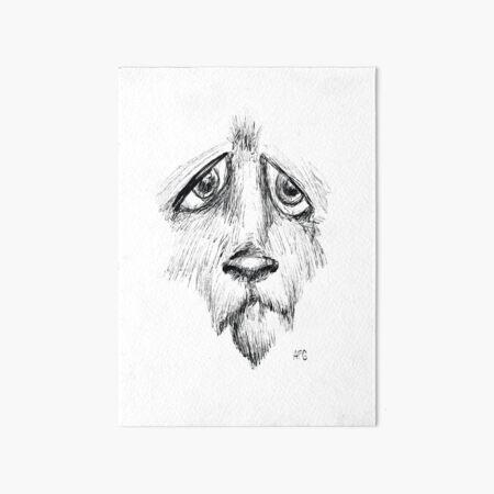 Sad Eyes Puppy Art Board Print